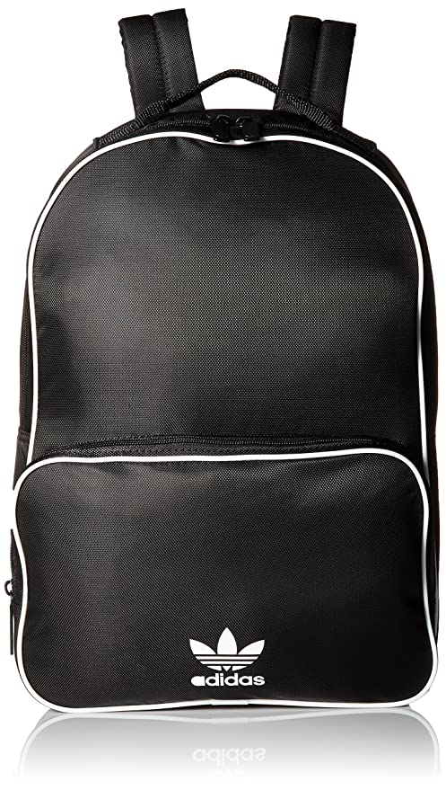 Amazon.com  adidas Originals Santiago Backpack, Black, One Size ... 0fce34c525