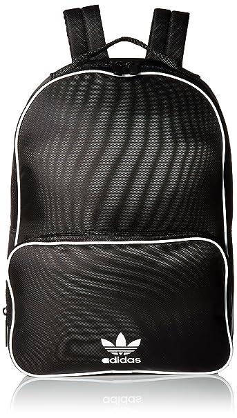 39e286c1b Amazon.com: adidas Originals Santiago Backpack, Black, One Size ...