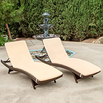 Lakeport Outdoor Adjustable Chaise Lounge Chairs With Cushion (Set of 2) : cushion for chaise lounge chair - Sectionals, Sofas & Couches