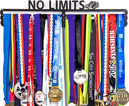 No Pain No Gain Sports Race Medal Display Rack Holder Hanger Organizer Gifts