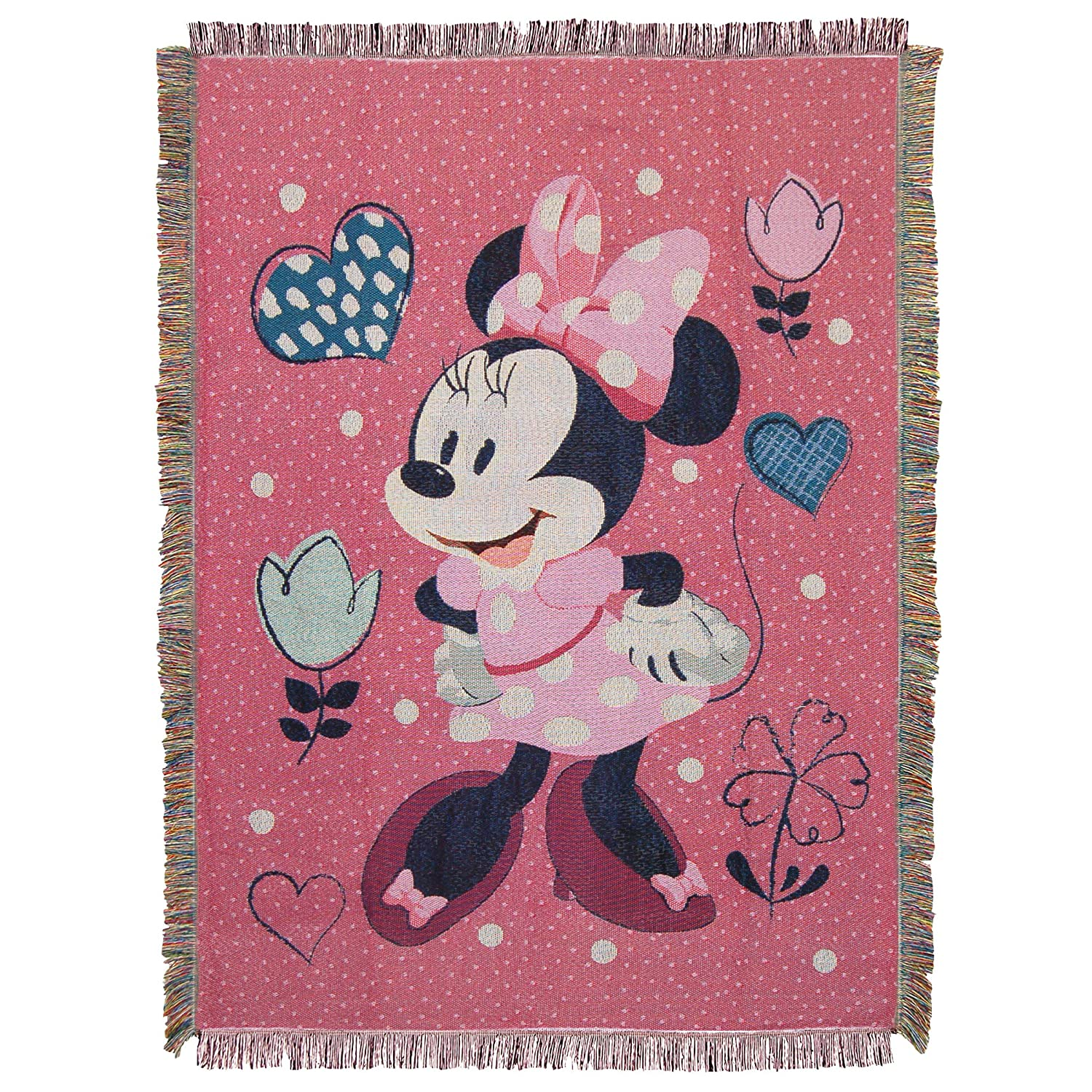 Disney Happy Helpers,Minnie to The Rescue Woven Tapestry 48' X 60' Throw Blanket, Multicolor Minnie to The Rescue Woven Tapestry 48 X 60 Throw Blanket The Northwest Company 1MIC/05100/0014/RET