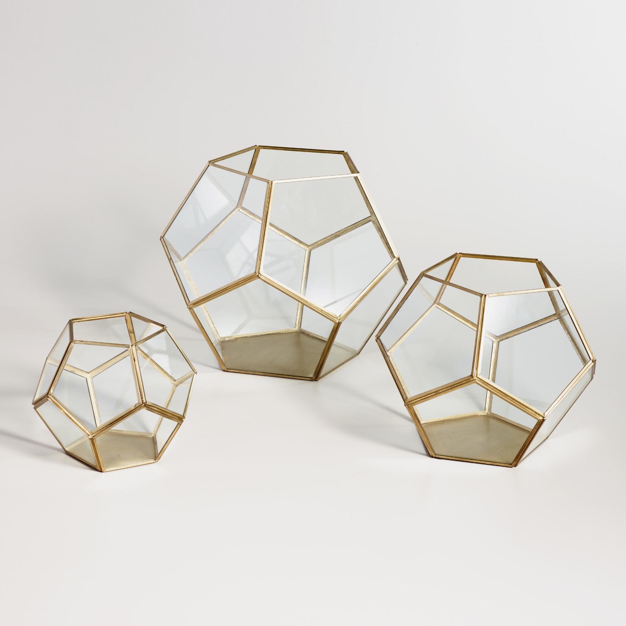 Brass Geo Terrarium | World Market