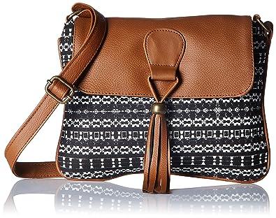 Kanvas Katha Women's Sling Bag (Black) (KKSNAZ002): Amazon.in ...