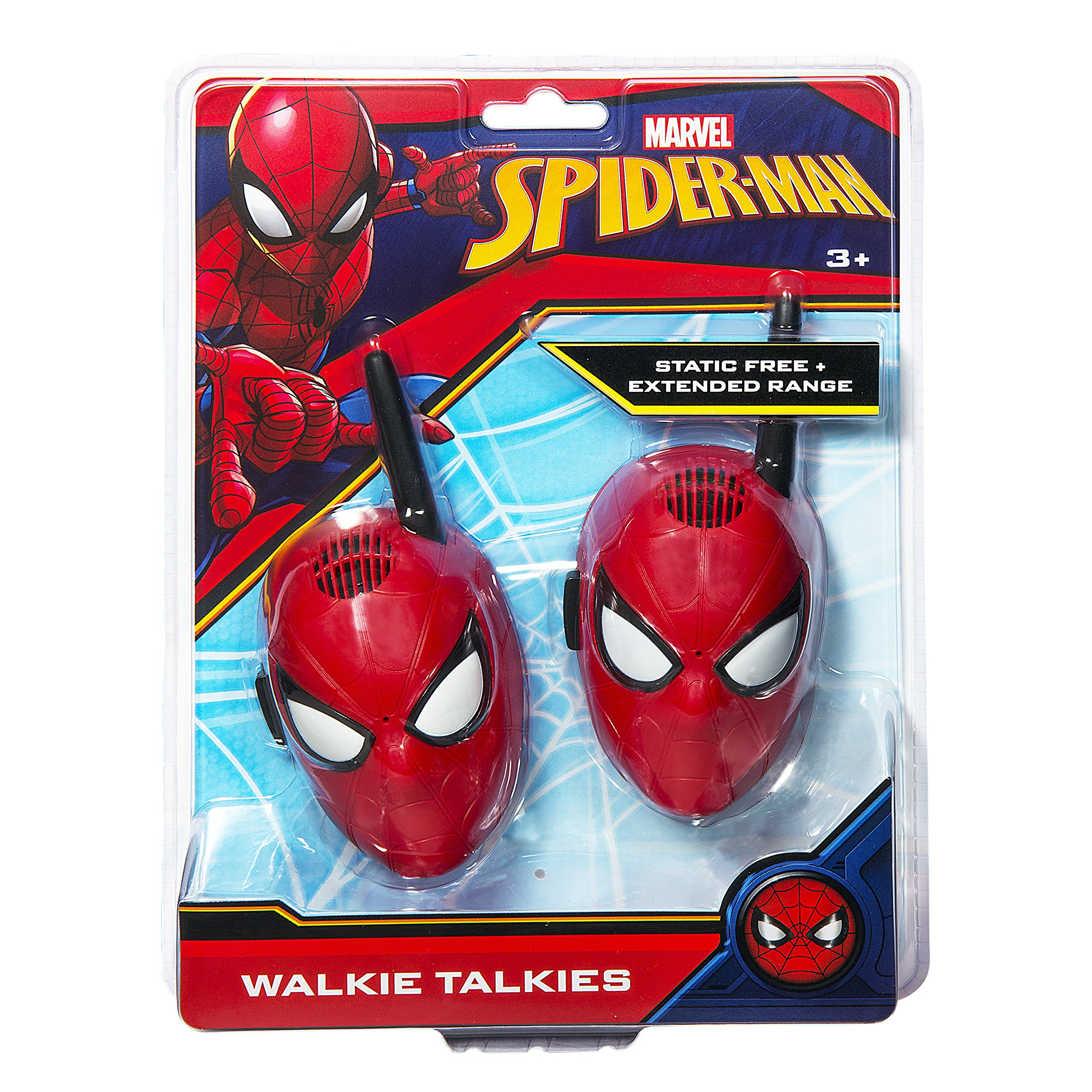 Spiderman Walkie Talkies for Kids Static Free Extended Range Kid Friendly Easy to Use 2 Way Walkie Talkies by eKids (Image #4)