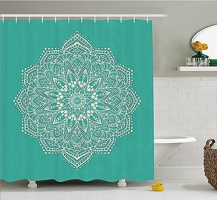 Amazon.com: Ambesonne Mandala Decor Shower Curtain by, East ...