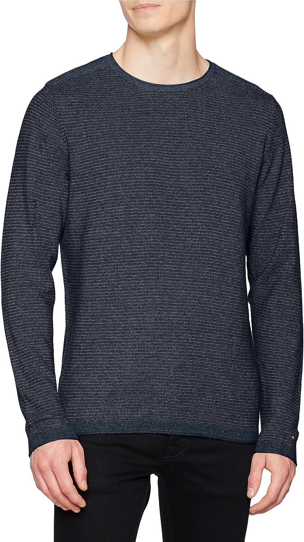 Tommy Hilfiger Textured Denim Look Sweater suéter para Hombre