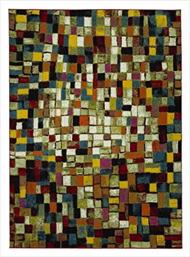 Casamode City Collection Area Rugs, 5 3 x 7 3 , Multicolor Tiles