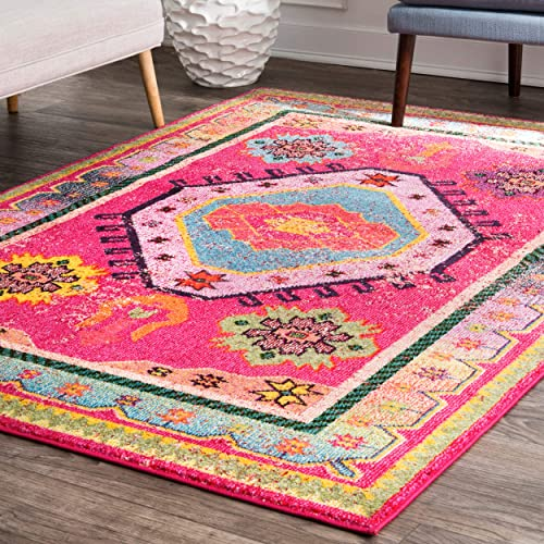 nuLOOM Abigail Bohemian Area Rug, 4 x 6 , Pink