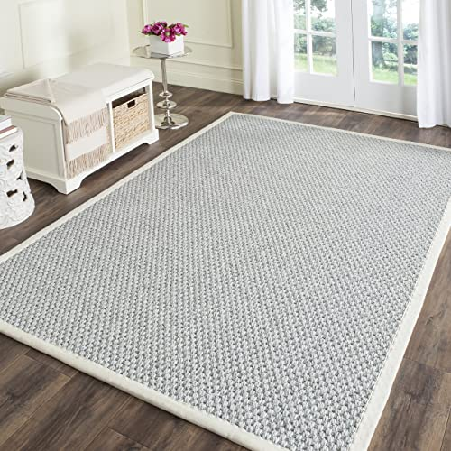 Safavieh Natural Fiber Collection NF463B Hand Woven Silver and Grey Sisal Area Rug 4 x 6