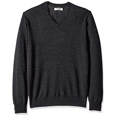 Brand - Goodthreads Men's Lightweight Merino Wool V-Neck Sweater: Clothing