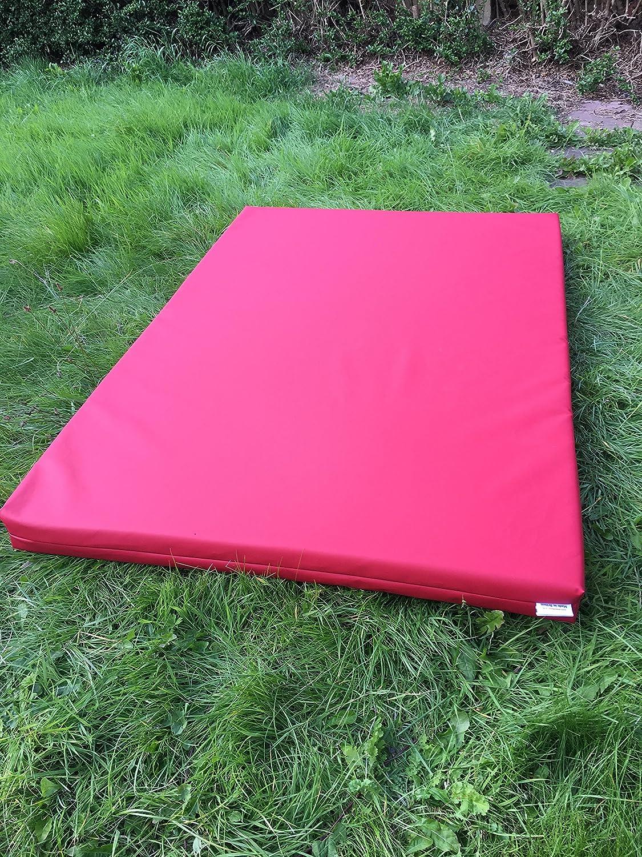 Soft Play–Tappetino da ginnastica, PVC 610g/mq, in schiuma ad alta densità–blu–verde–rosso–giallo–120cm x 90cm x 10cm