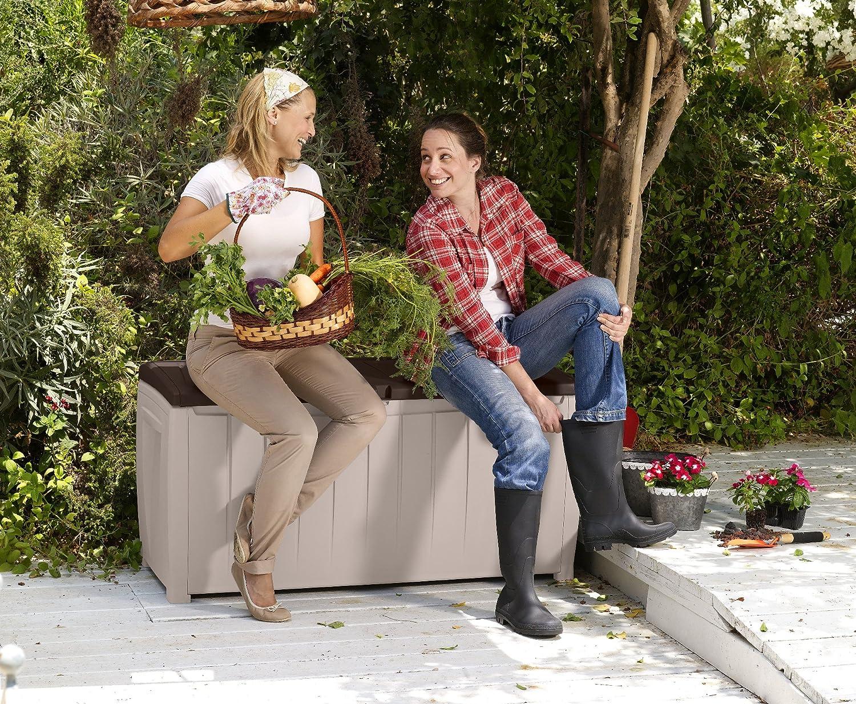 Keter Chalet et jardin - 12-666071 Coffre de Rangement avec Assise ...