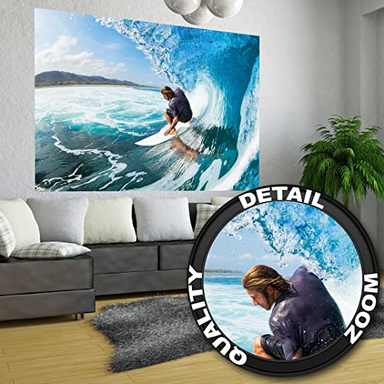 Affiche De Vagues Peinture Murale De Décoration Sport De Mer