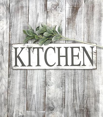 Amazon Com Kitchen Signs Decor Farmhouse White Rustic Home Decor