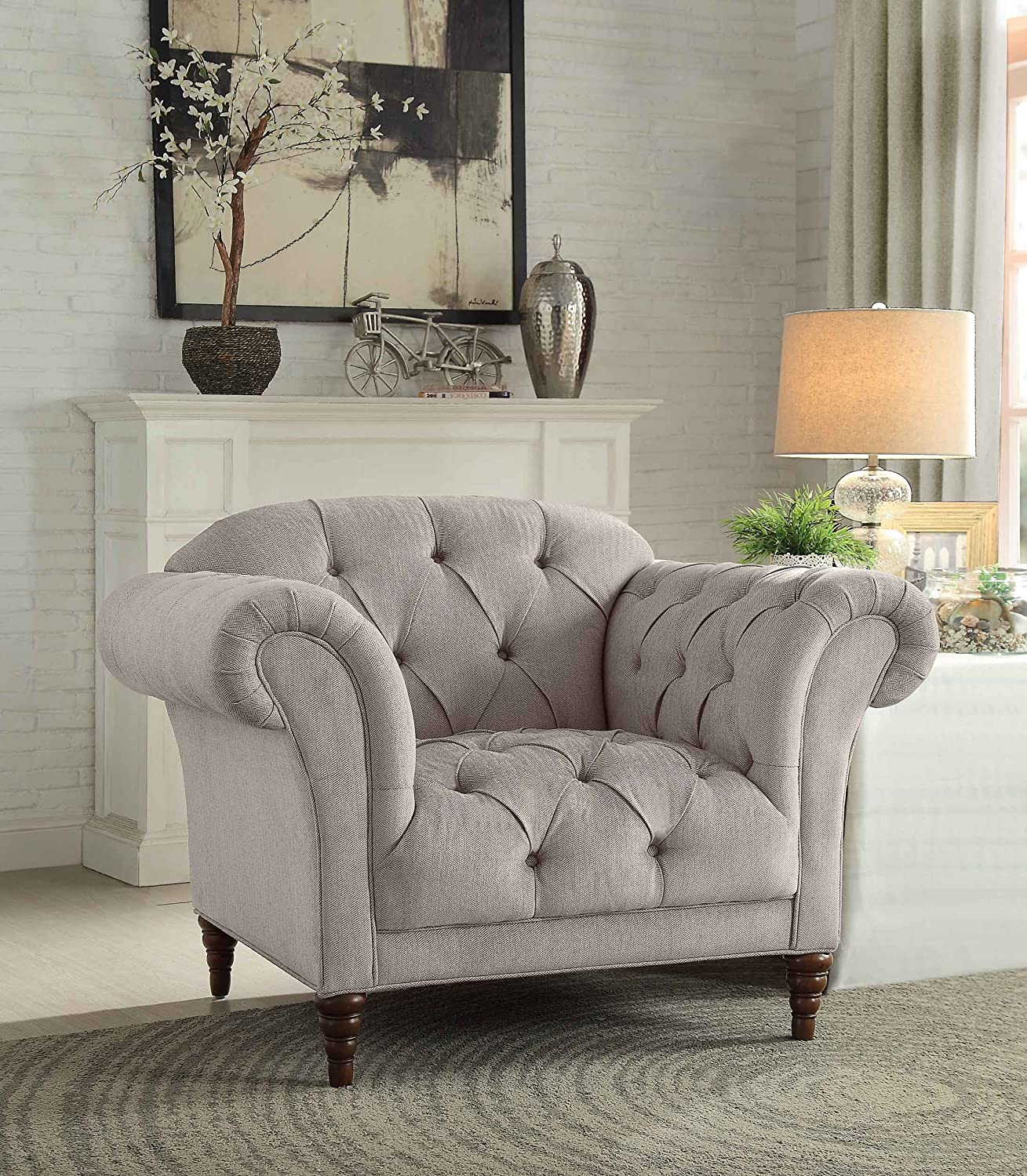 Chair Upholstery Fabric Amazon Solvang Tufted Light Beige Fabric