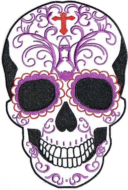 Sugar Skull Vintage style Day of Dead vest patch