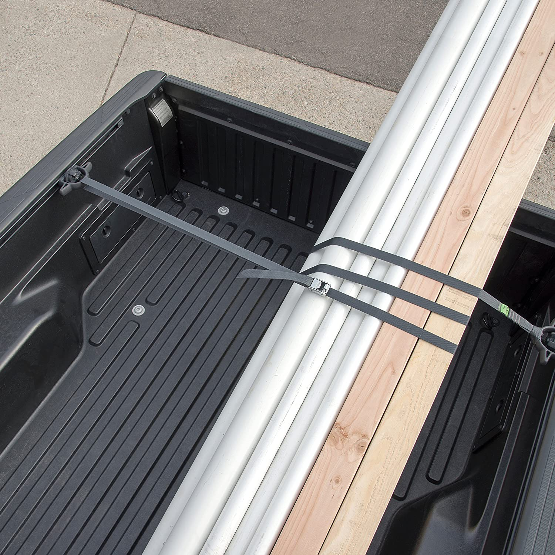 Nite Ize Dual CamJam Tie Down Strap System 400LB Load Limit 18FT Webbing High Strength Nylon Strap Proprietary Dual Cam Zinc Alloy Buckle