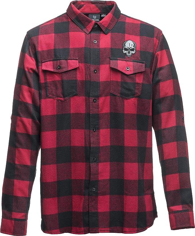 Vintage Industries Flanell Hemd Harley Holzfällerhemd rot kariert