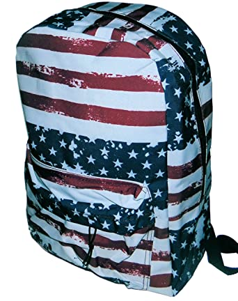 Amazon.com | American Flag Design School Backpack Back Pack Book ...