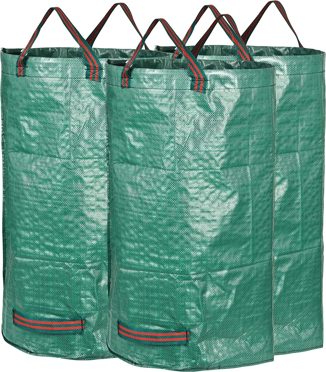 GardenMate 3-Pack 32 Gallons Reusable Garden Waste Bags (H30, D18 inches) - Yard Waste Bags