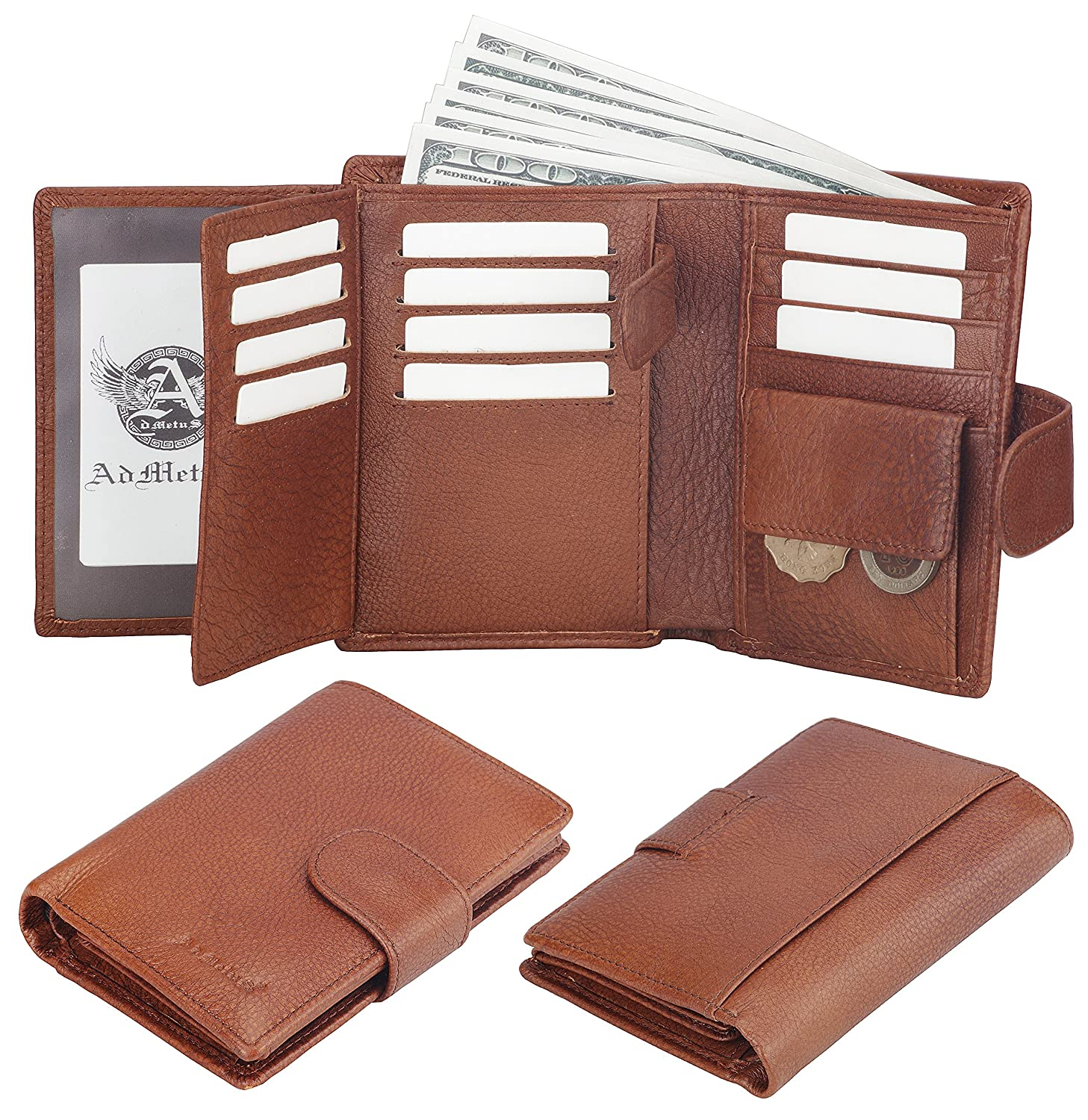 Amazon Com Admetus Men S Soft Genuine Leather Card Holder Coin