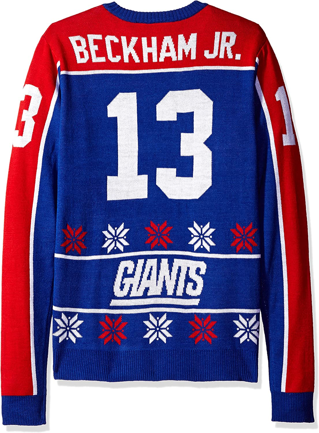Odell Beckham XX-Large NFL New York Giants Player Portrait Ugly Sweater