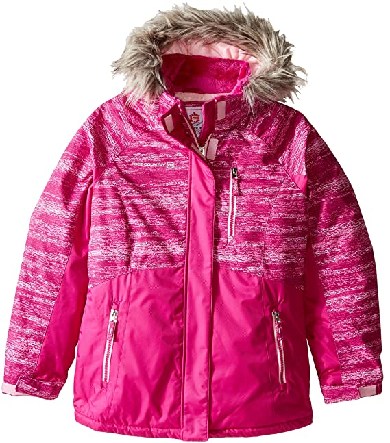 Free Country Big Girls' Boarder Jacket, Outdoor Pink, M(10/12)