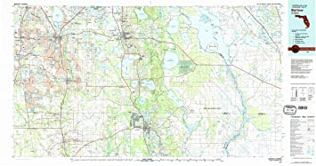 Bartow Florida Map.Amazon Com Yellowmaps Bartow Fl Topo Map 1 100000 Scale 30 X 60