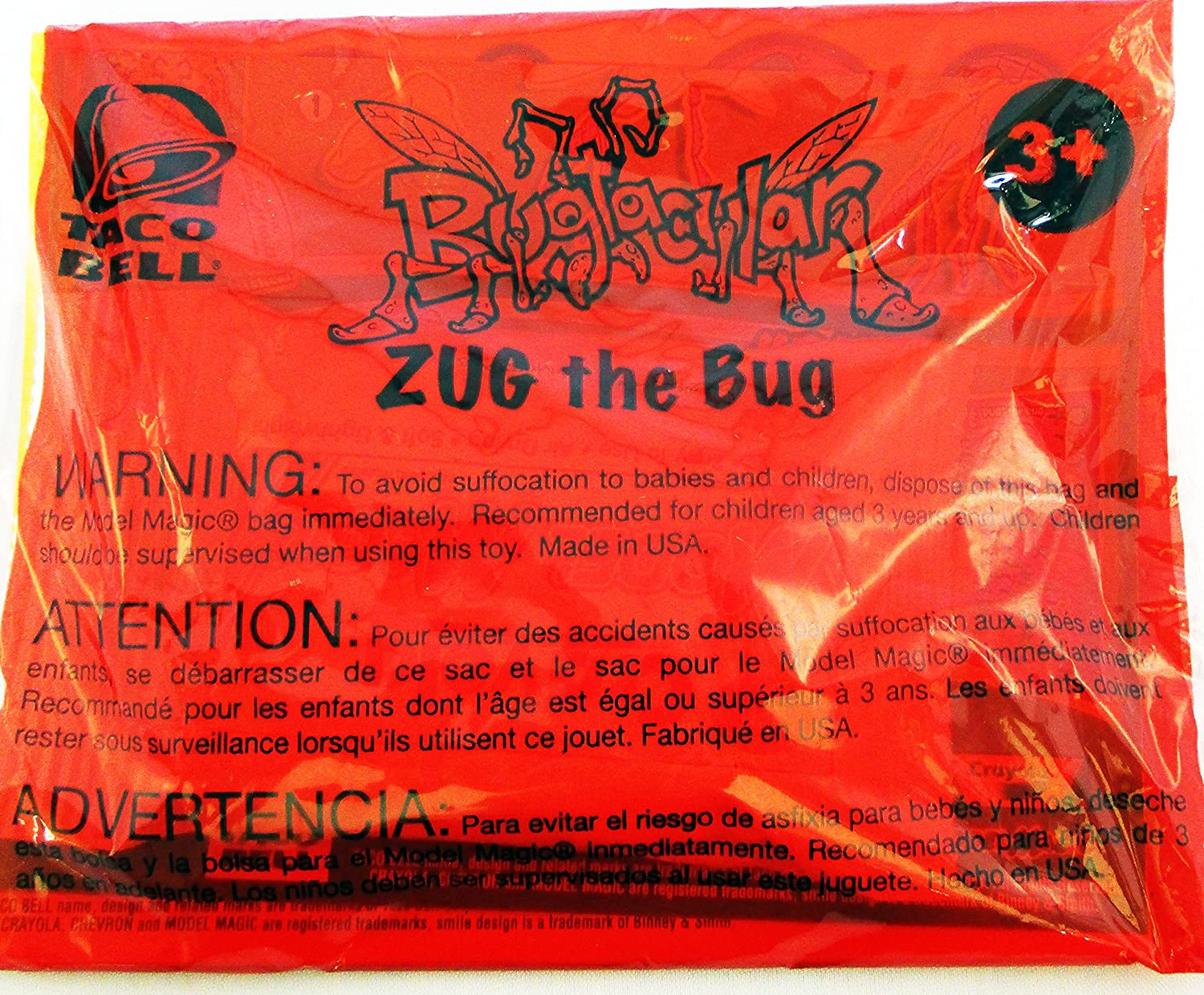 Amazon.com   Taco Bell Kids Toy Bugtacular Zug the Bug   Everything Else 944217ddb3d64