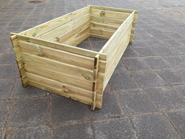 Contenedor resistente para compost, de madera impregnada, bancal ...