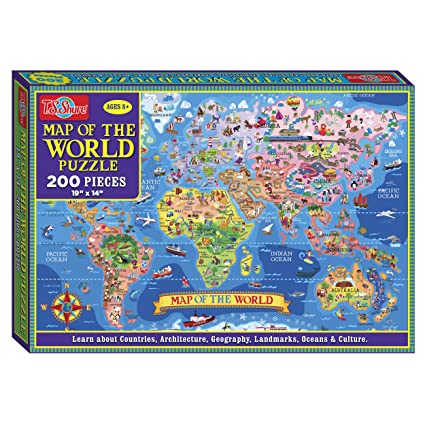 Amazon ts shure map of the world jigsaw puzzle 200piece ts shure map of the world jigsaw puzzle 200piece gumiabroncs Image collections