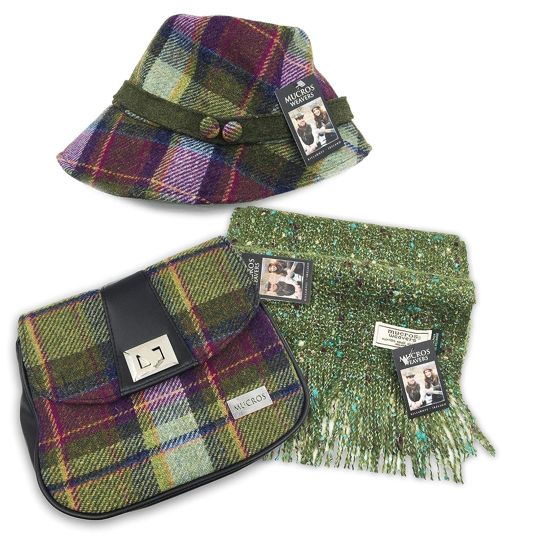 Mucros Set  Clodagh Hat, Alpaca Scarf and Sarah Bag