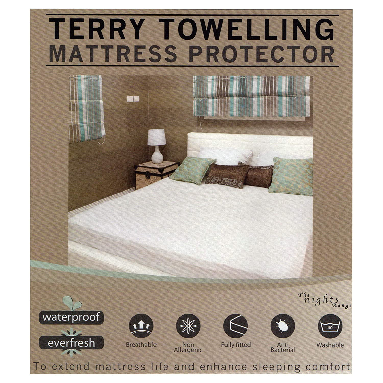 Super King Size Mattress Protector Sheet Wet Matress Cover Waterproof Washable