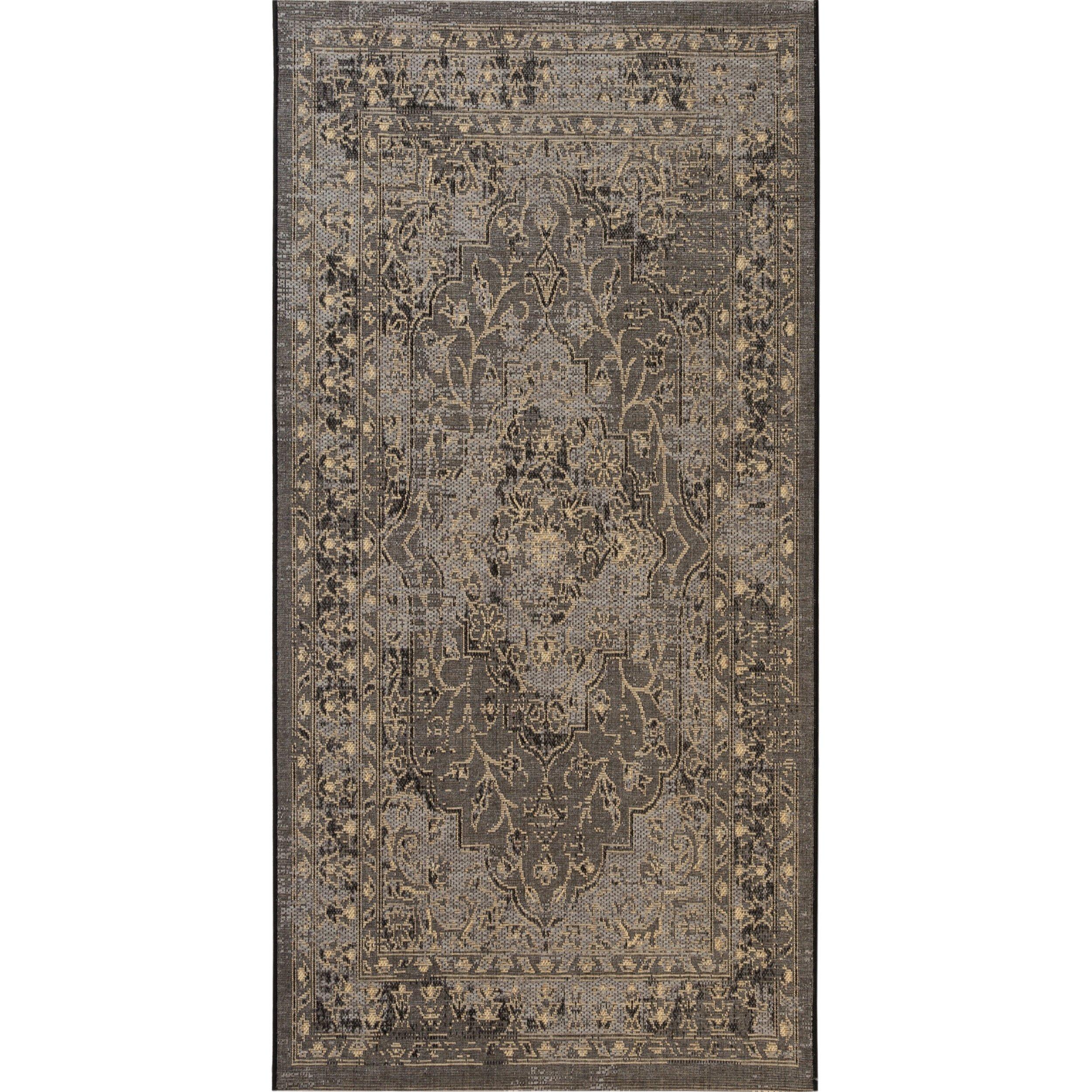 Safavieh Palazzo Collection PAL128-1621 Black and Cream Area Rug (2'6'' x 5')