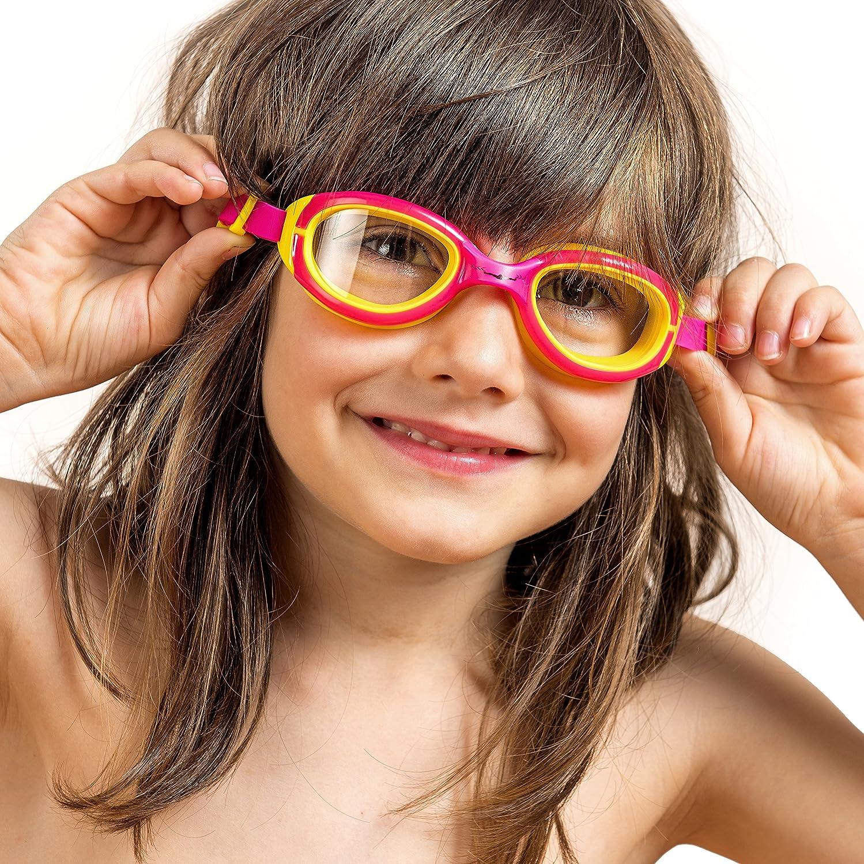 b6b01f522a33 Kids Swimming Goggles ~ Swim Goggles for Children Boys Girls Age 2 3 4 5 6  7 8 9 10 11 12 Years ~ Anti Fog UV Protection No Leak (BlueViolet DeepPink  ...