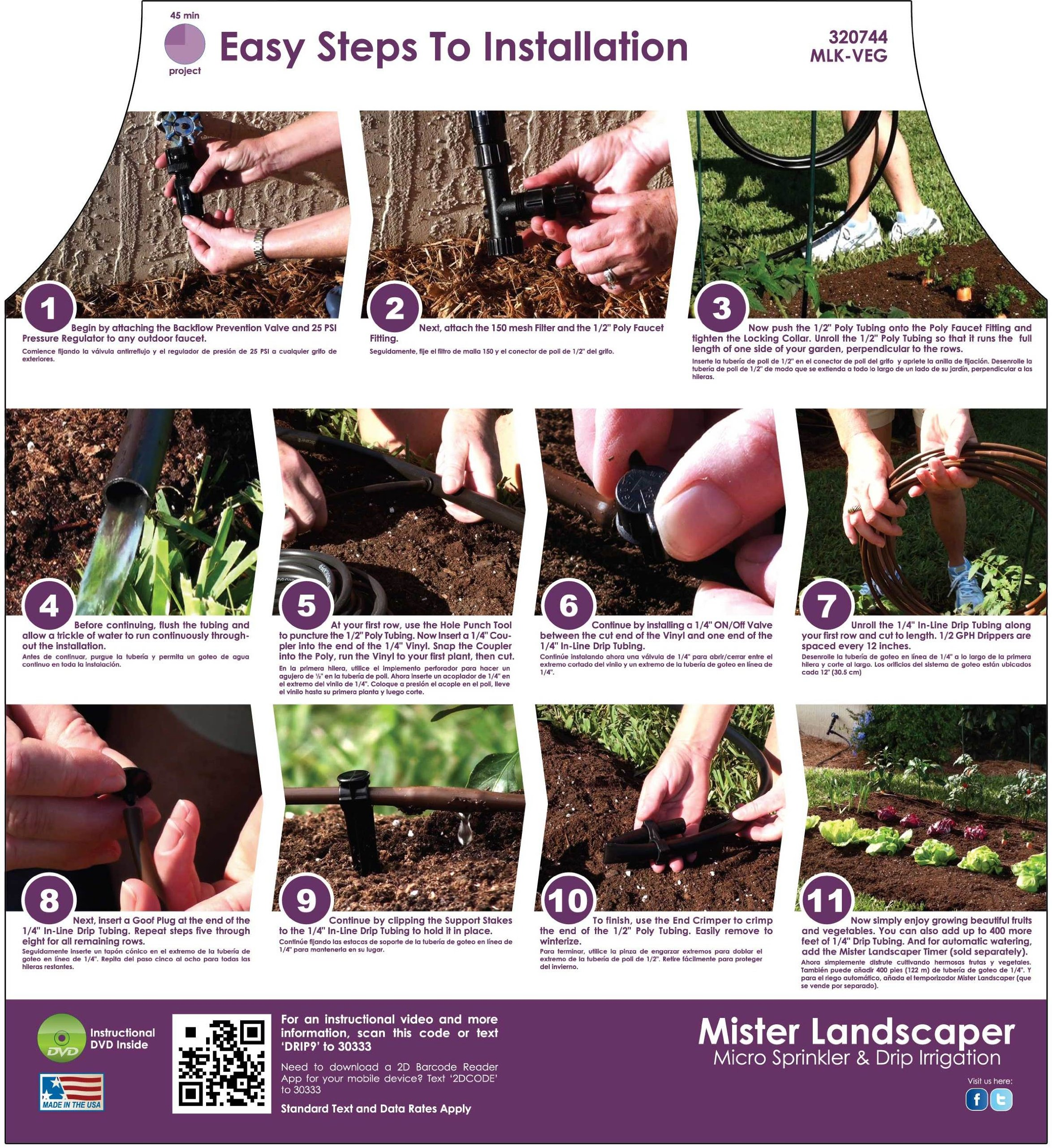Mister Landscaper MLK-Veg Vegetable Garden Drip Irrigation Kit by Mister Landscaper