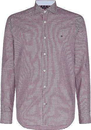 Tommy Hilfiger Slim Dobby Houndstooth Shirt Camisa para Hombre