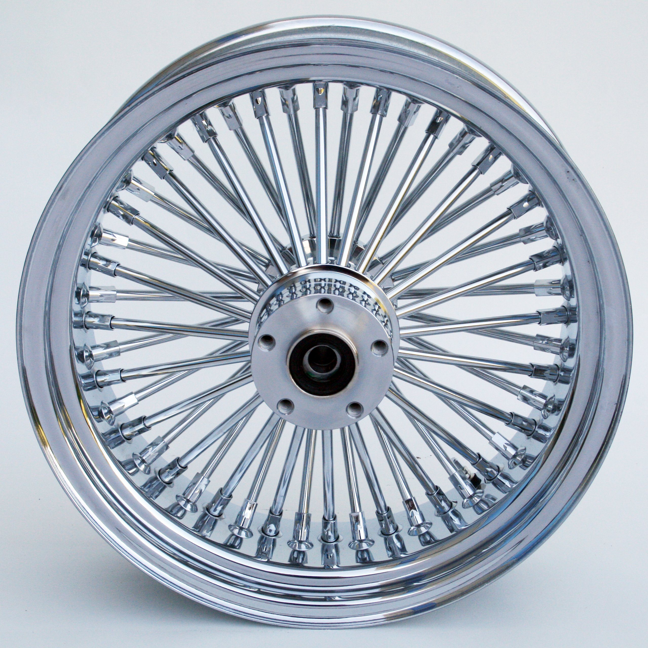 Ultima King Spoke Chrome Front Single Disc Wheel 16x3.5 for 2000-06 Harley Models (37-527)
