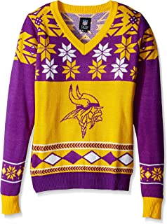 new concept a1ba3 41859 Amazon.com : Minnesota Vikings Busy Block Ugly Sweater ...