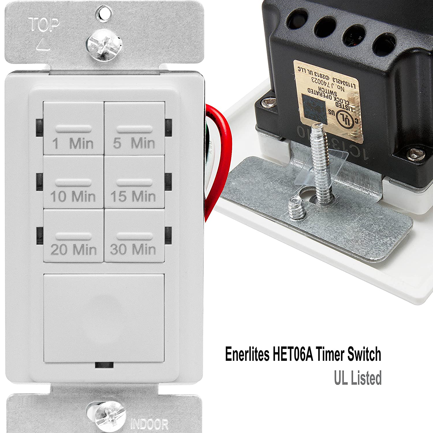 Enerlites In Wall Timer Switch Fan Countdown Way Always Hot Light Switched Wiring Done Right Bathroom 1 30 Min Night Led Indicator