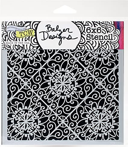 CRAFTERS WORKSHOP TCW678S Template 6X6-Flower Tiles