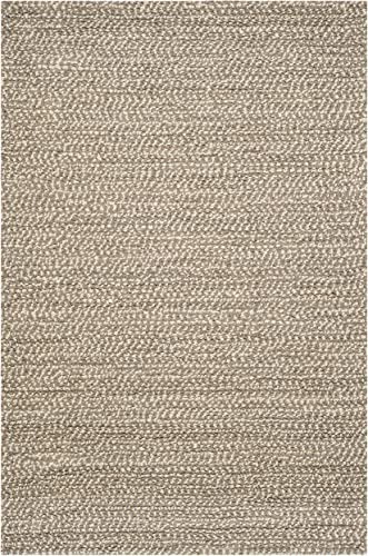 Safavieh Manhattan Collection MAN421A Hand Woven Grey and Brown Wool Area Rug 8 x 10