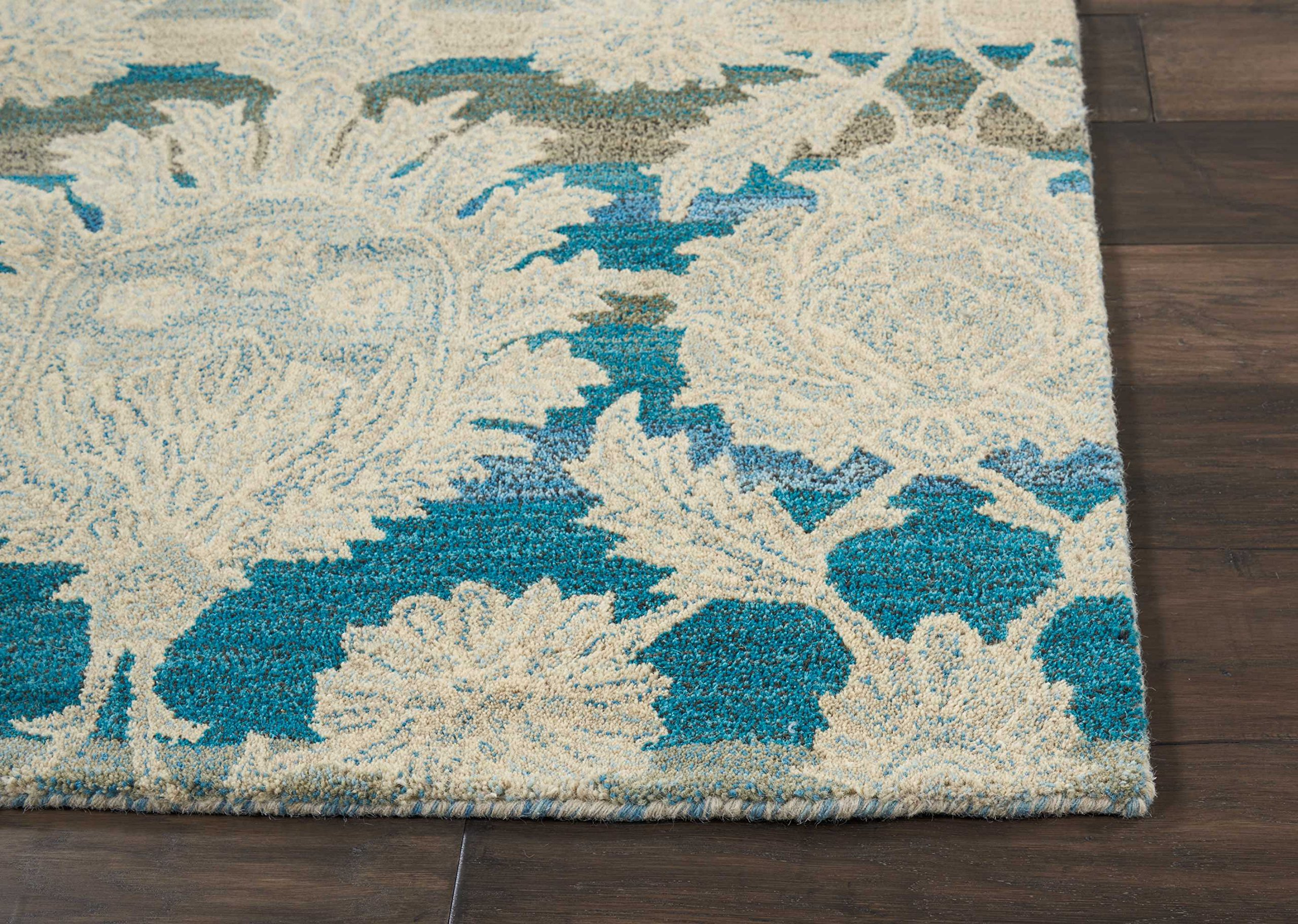 Nourison IH91 India House Area Rug, 8'X10'6'', IVORY/TEAL by Nourison (Image #3)