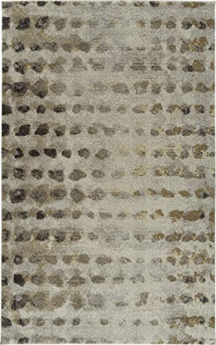 Addison Plano Abstract Polka Dots Wheat 7'10″X10'7″ Area Rug