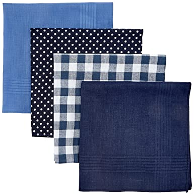 Mens Multi Spot Hankie Set Handkerchief, Blue (Mid Blue), One Size Burton Menswear London