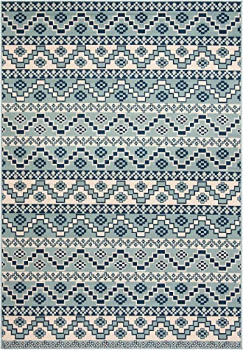 Safavieh Veranda Collection VER095-3934 Turquoise and Blue 8 x 11 2 Area Rug, 8 x 11