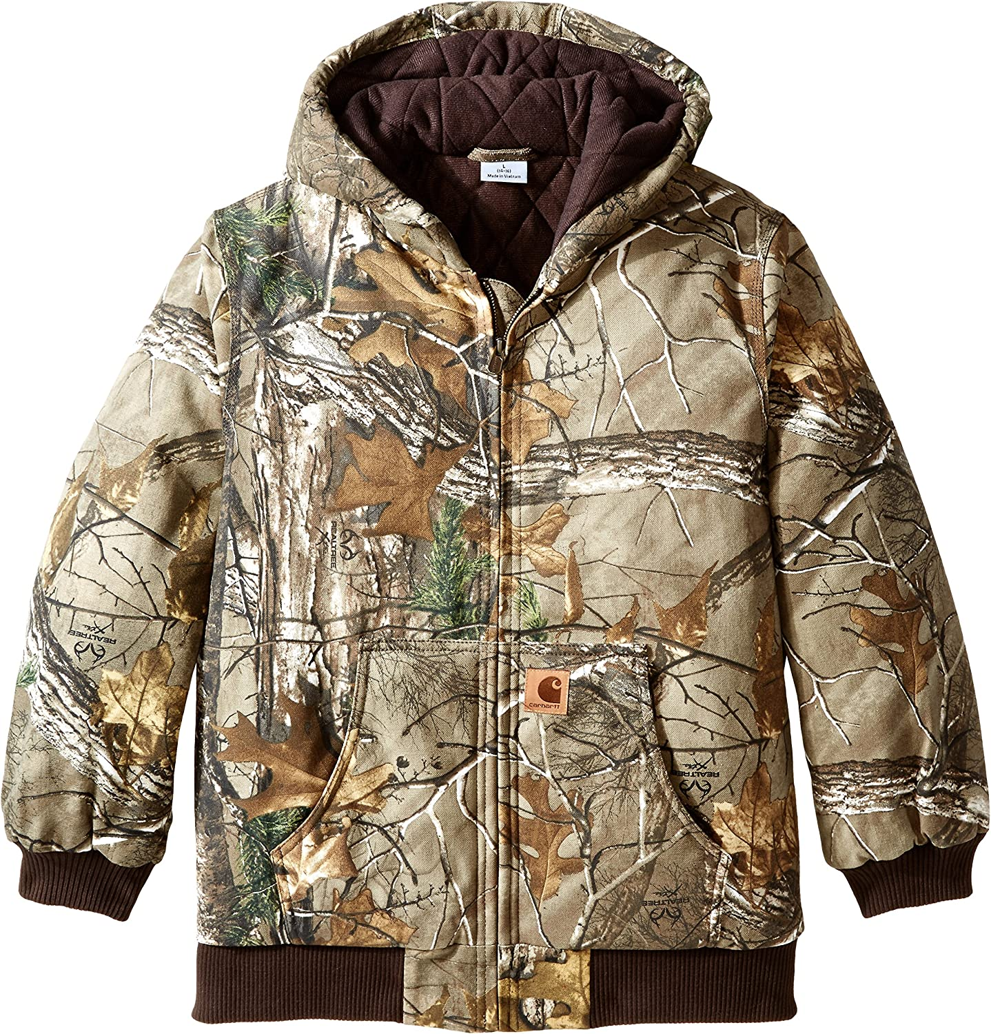 Carhartt Boys' Active Jac Quilt Lined Jacket Coat: Clothing
