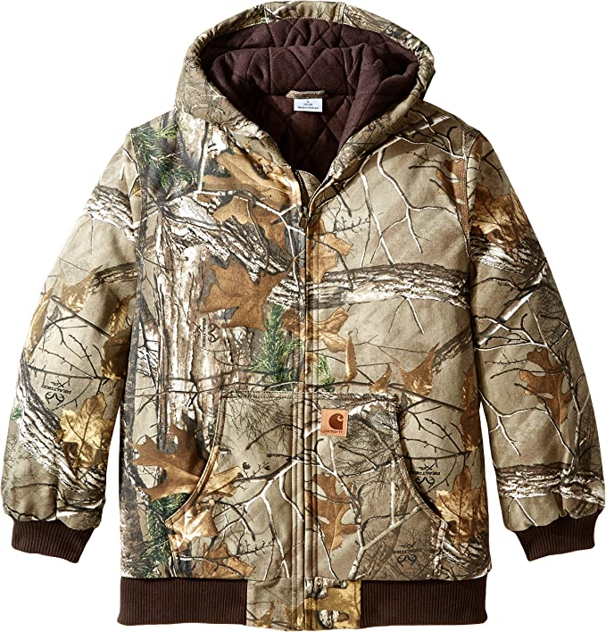 best hunting jackets: Carhartt Boys' Active Jac Quilt Lined Jacket Coat