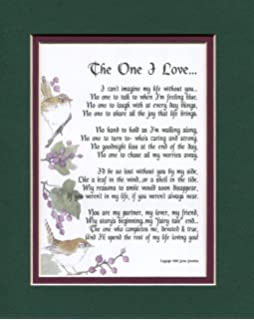 Amazon Com A Poem Present For A Wife Or Husband Navy Over White