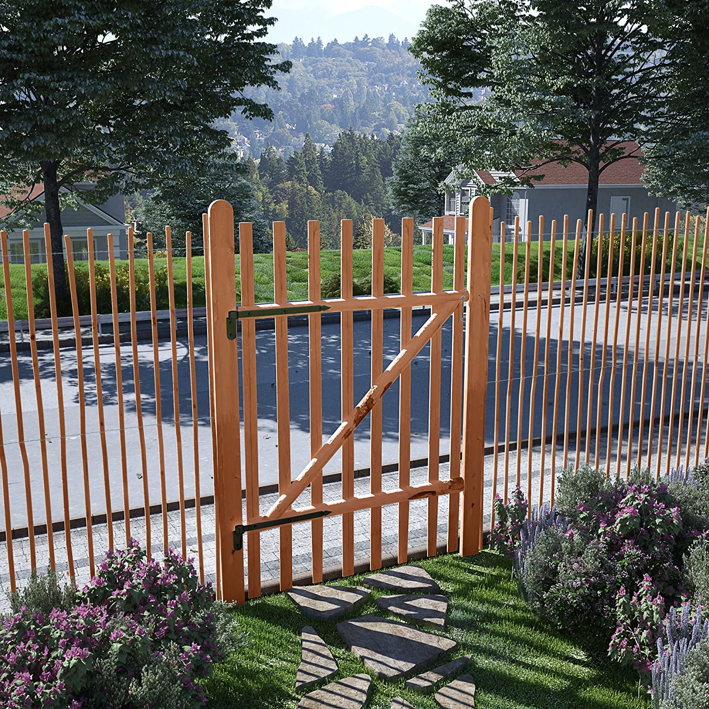 vidaXL Haselnuss Holz Impr/ägniert Gartentor 100x120cm Zauntor Gartent/ür Pforte